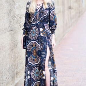 EUC Seventies Boho Style H&M Dress Size 12